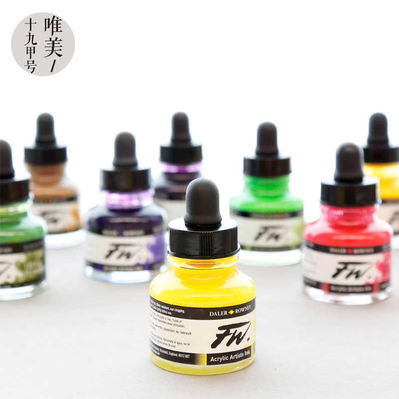 UK Original Import FW Ink Color Ink Artists' Acrylic Fluid Drawing Acrylic Paint