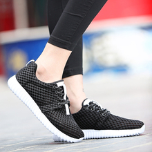 2019 Lightweight Summer Sneakers Breathable Casual Shoes Couple Lover Fashion Lace up Men Mesh Flats Shoes Big Plus Size 36-46 summer men s shoes breathable mesh shoes for men flats casual shoes big size lightweight comfortable fashion men shoes sneakers