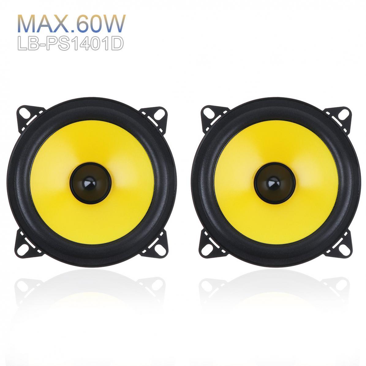 LABO 2pcs 4 inch 2-Way Car Speaker 60W Full Range Frequency Car Audio auto sound Stereo Speaker Automobile Loudspeaker