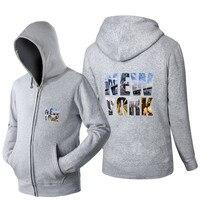 En najaar clothing hoge kwaliteit sweatshirt new york gedrukt Hoodies 3d casual Hoody Trainingspak Zip up Mannen Hiphop jas