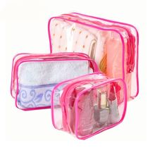 Travel Transparent Cases Clothes Toiletries Storage Bag Box Luggage Towel Suitcase Pouch Zip Bra Cosmetics Underwear Organizer(China)