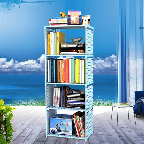 Bookcases Living Room Furniture Home Steel Plastic Non Woven Bookshelf Hot Book Stand Rack Modern Minimalist New In From