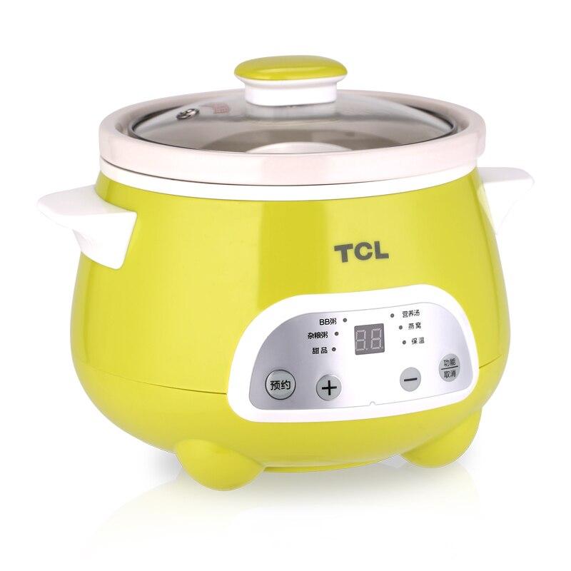 1.5L здоровья сохранить горшок с Таймер Автоматического Контроль температуры суп зеленый анти-сухой медленно Плита с белый фарфор 140 вт