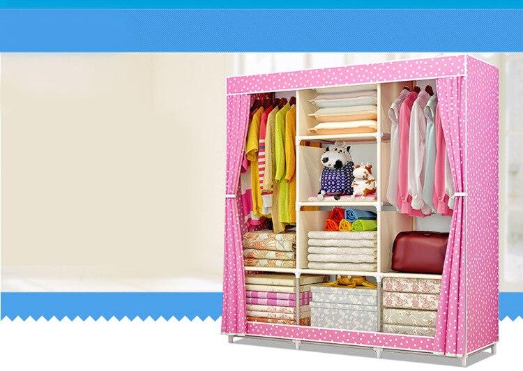 Fabric Folding Bedroom Cabinet 9