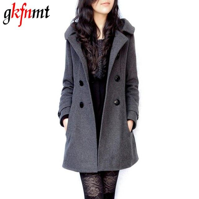 56ea0ac3f4 Mulheres jaqueta Casaco de inverno Casaco Feminino Femininos De Inverno  Sobretudo Preto De Lã Casaco de