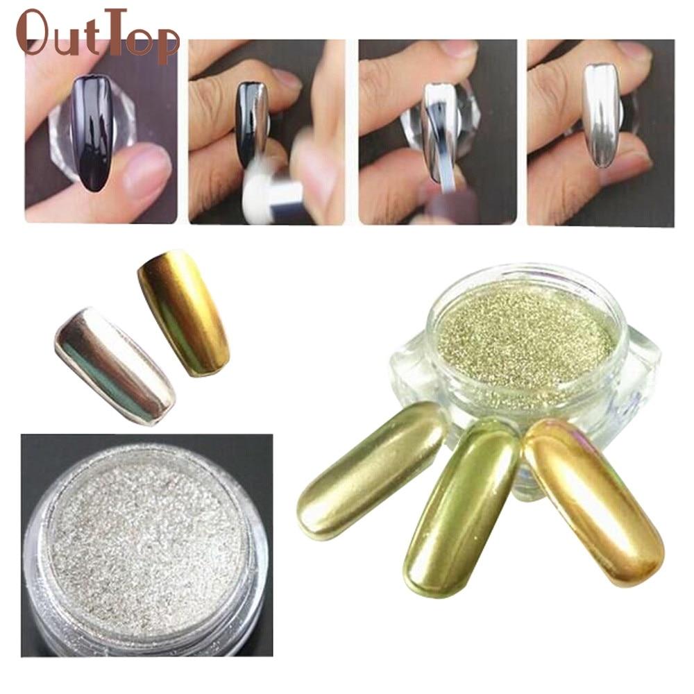GEACEFUL1g Box Gold Sliver Nail Glitter Powder Shinning Mirror font b Eye b font font b