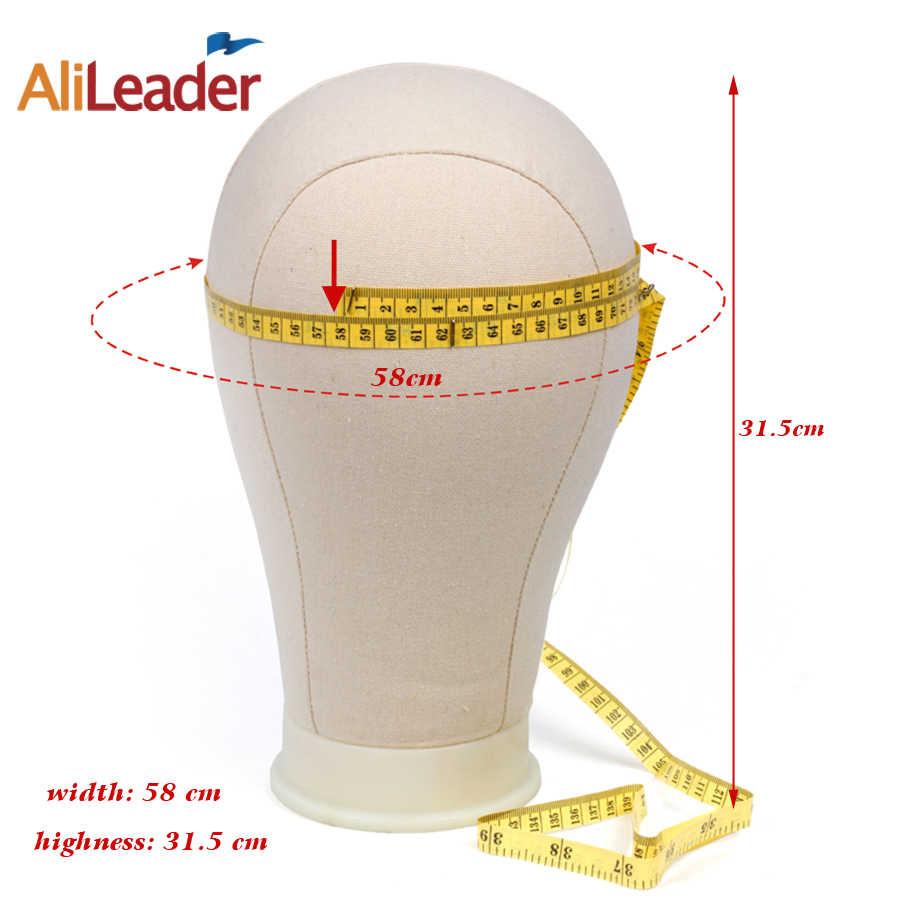 AliLeader mejor 11 Uds Kit de fabricación de pelucas maniquí de lona peluca cabeza domo con soporte Spandex Domo Cap cabeza de bloque de lienzo maniquí cabeza