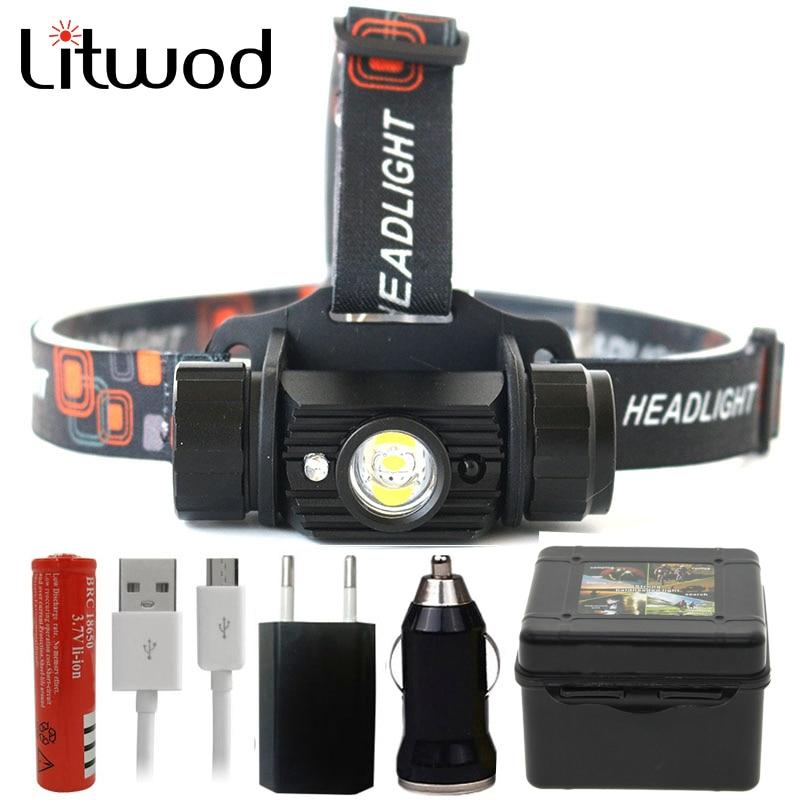 Litwod Z209011 Mini IR Sensor Headlight Induction Usb Rechargeable Lantern Headlamp Flashlight Head Torch By 18650 Batterry