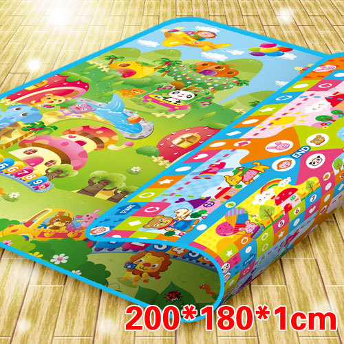 Flight chess animal double faced baby crawling pad thickening 1cm 200 180cm chinese chess 2 thick double faced laser line bamboo dual board set child 331 1pcs lot