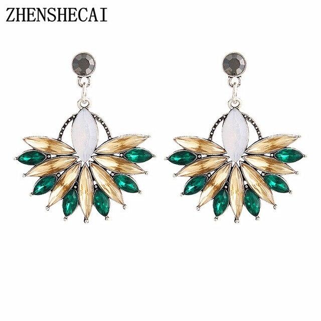 Fashion chandelier earrings for women 3 colors hang long drop earrings crystal R