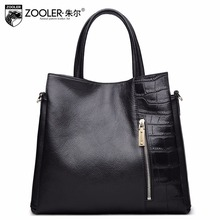 ZOOLER bags handbags women famous brands Elegant capacity OL stylish genuine leather bag handbag Vintage bolsa feminina#926