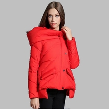 New 2017 Women Winter Jacket Casual Down Jacket Hooded Thick Warm Short Cotton Coat High-quality Fashion Casual Jacket AB180