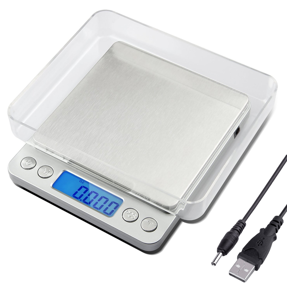 USB Powered 500g/0.01g Digital Kitchen Scales Food Diet Postal Scale 0.01 Electronic Balance Weighting Tool Weight LCD Upgrated Весы