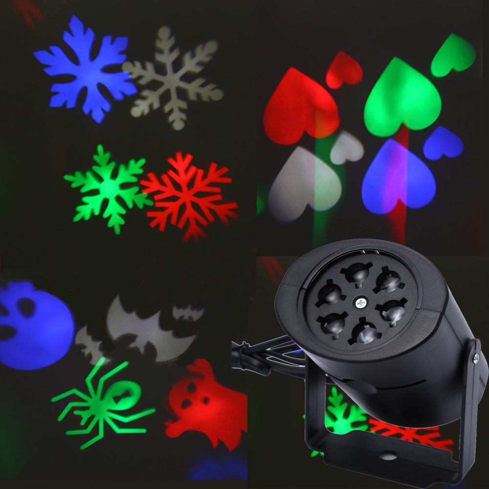 Outdoor Heart Snow Spider Bowknot Bat Christmas Laser