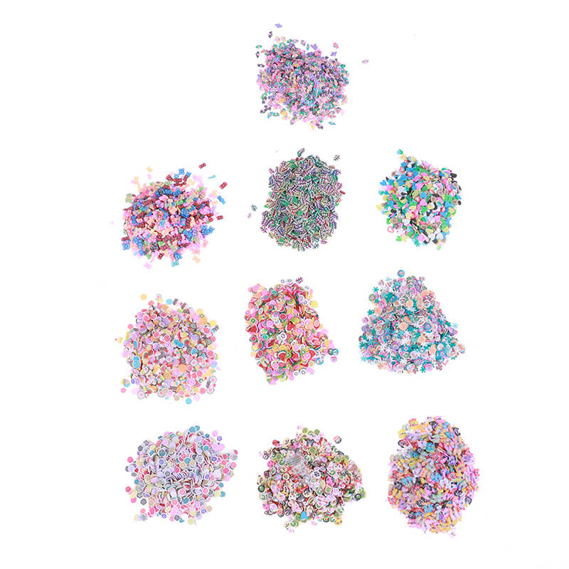 1000Pcs Plasticine Addition Soft Ceramic Fruit Mixed Fruit Leaves DIY Clear Slime Clay Nail Jewelry Mobile Slime Diy Supplies