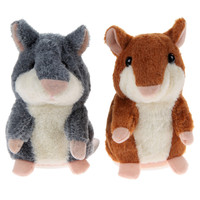 Talking Hamster Plush Toy Speak Talking Sound Record Educational Toy Baby Kids Gifts 2 Colors Free