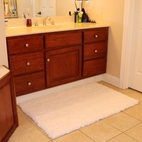 50 80cm Carpet Floor Bath Mat Suede Super Comfortable Non Slip Bath Mats Free Shipping