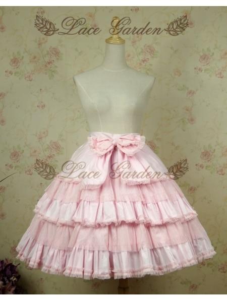 Jupe courte Lolita rose doux