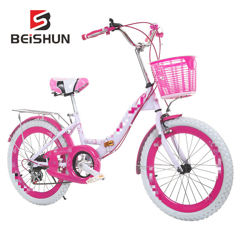 Children's Bicycle 18-24 Inch 6-14 Year Old Student Car Girl Pink Folding Bicycle