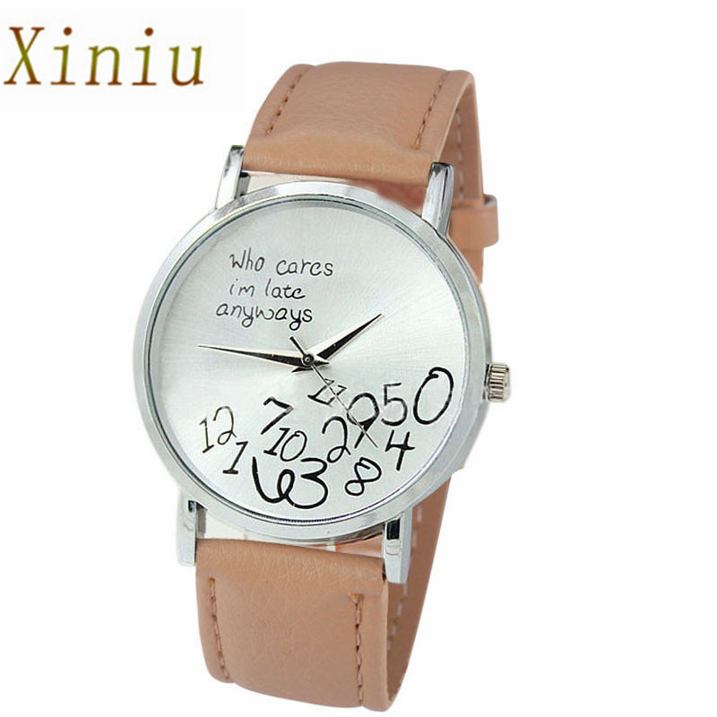 New Design Watch Clock Who Cares I Am Late Anyway Letter