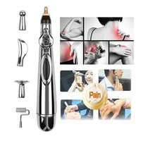 NEW Electronic Accupuncture Massage Pen with 5 Massage Head Meridians Laser Energy Point Pen Massager Pain Relief Massage Tool