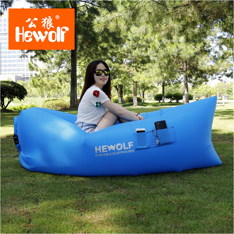 Sofa King Fast Racing: Hewolf Outdoor Portable Inflatable Sofa Bed Lazy Gas Bed