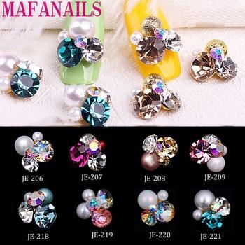 2018 New 10pcs Crystal Bright Pearl Nail Rhinestone Alloy Art Decorations Glitter DIY 3D CJE Jewelry Pendant