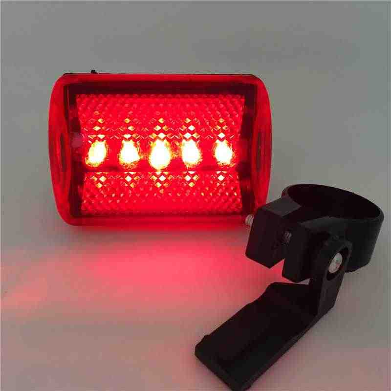 New Arrival Hot Bike Bicycle 5 LED Rear Tail Light Bike Red Back Light Safety Warning Flashing Bicycle Lights