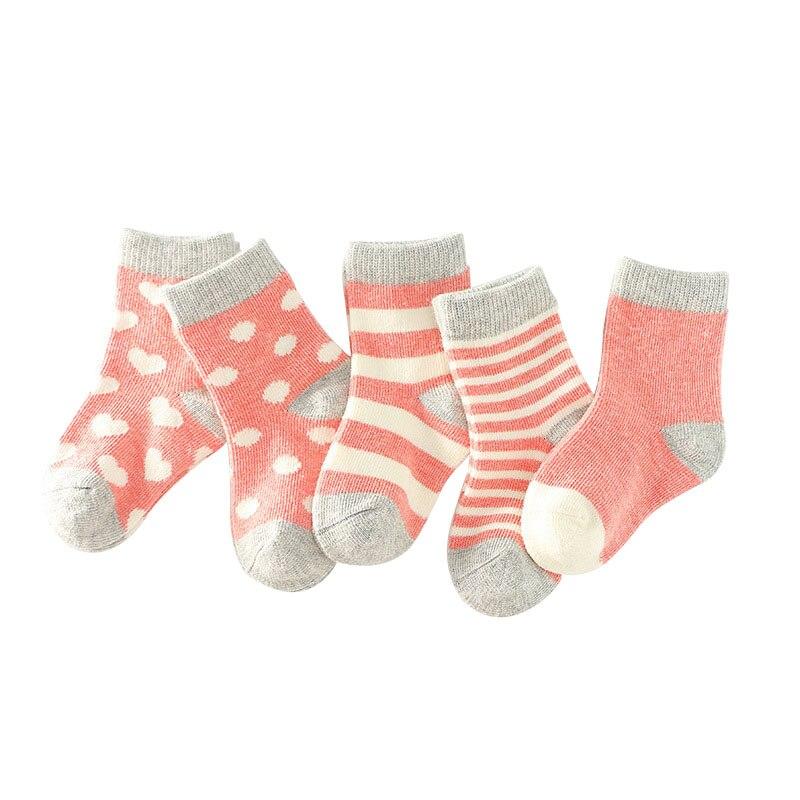 10 Pairs Kids Cotton Socks For Baby Boys Girls