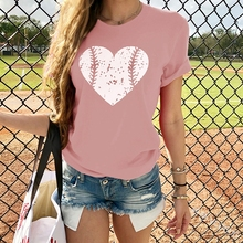 Pretty and Cute heart Print Women t shirt Summer Casual Short Sleeve O Neck t-shirt Ladies Pink TShirt Tops oversized t shirt sew pretty t shirt dresses