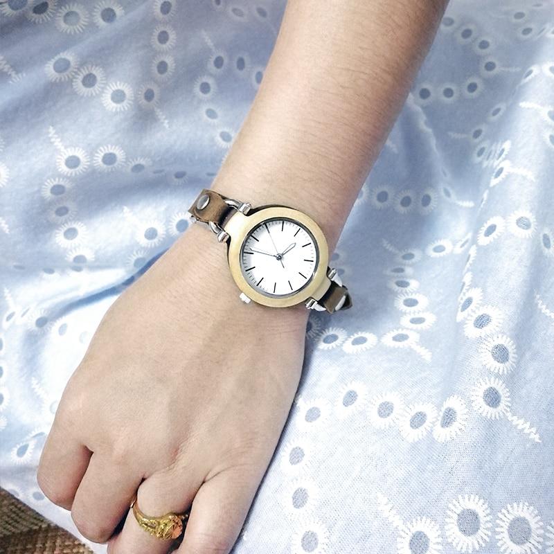 white -women-leather-wood-watches lady clock-B88-13