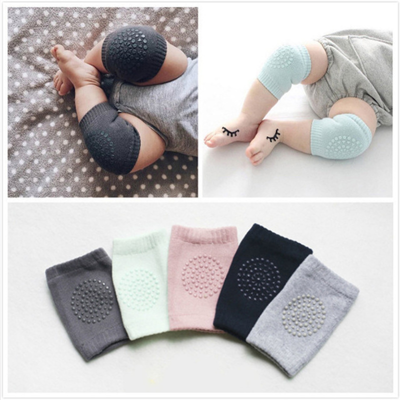 1 Pair Baby Knee Pad Kids Safety Crawling Elbow Cushion Pad Infant Toddlers Baby Leg Warmer Knee Support Protector Baby Kneecap