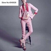 2019 новый офис работы розовый Блейзер Костюмы Высокое качество ПР Для женщин брюки костюм блейзеры куртки с брюк Двойка комплект H6851