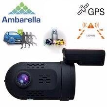 Мини 0807 Ambarella A7LA50 1080 P 135 Градусов GPS Конденсатор Автомобиля DVR DashCam Двойной Памяти Солт OBD Парк Гвардии Бесплатная Доставка!