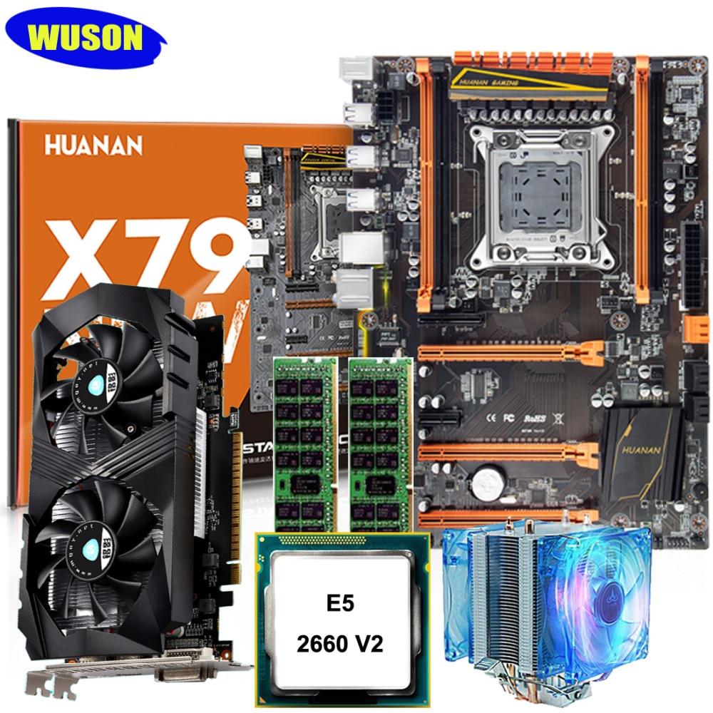 2 ans de garantie nouvelle HUANAN ZHI deluxe X79 carte mère M.2 NVMe slot CPU Xeon E5 2660 V2 RAM 16G (2*8G) carte vidéo GTX1050Ti 4G