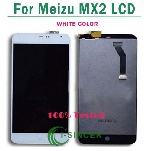 1/PCS Tested Lcd Screen Display Touch Screen digitizer assembly for Meizu MX2 M040 Black White Color