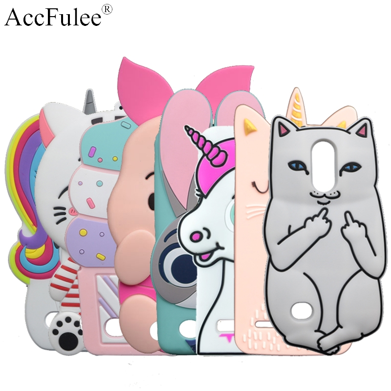"Cute Stitch Rabbit Horse Case For LG K8 2018 X210EM Aristo 2 LV3 2018 K9 Russian 5.0"" Cat Cover Sulley Phone Shell(China)"