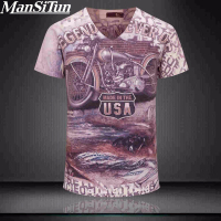 2017 Summer Fashion Vintage 3D Printed T Shirt Men Brand USA Cotton T Shirts Fashion Slim
