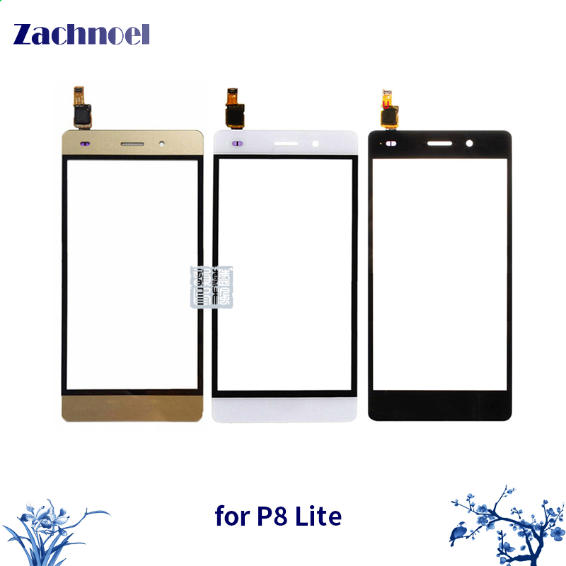 5.0 New P8 Lite Touch Panel for Huawei P8 Lite Touch Screen Digitizer Sensor Front Glass Lens Panel Mobile Phone Parts