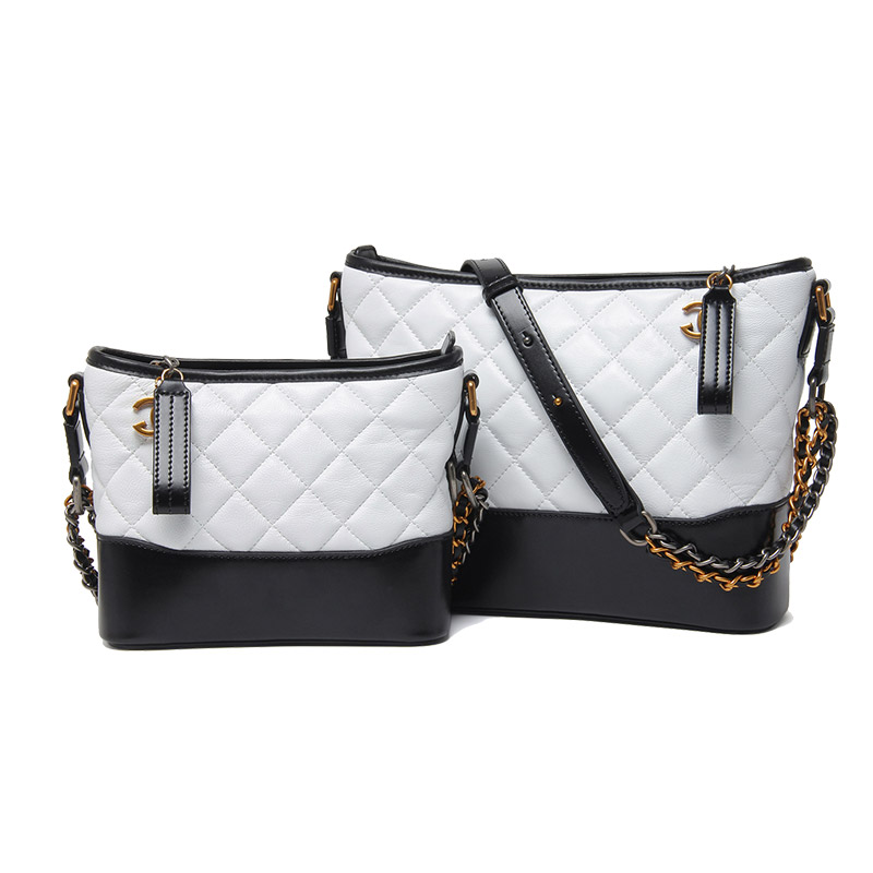 YeeSupSei 2 Size Women Messenger Bag Cowhide Leather Crossbody Bag Diamond Lattice Young Lady Chain Shoulder Bag Design Handbag in Shoulder Bags from Luggage Bags