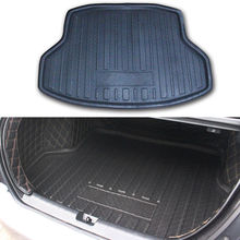 For Honda Civic 10th 4 door Sedan 2016 2017 2018 Rear Trunk Boot Liner Cargo Mat Tail Floor Pad Black Car-styling Accessories car styling rear bumper trunk threshold door sill outer protector trim stainless steel for honda civic 10th sedan 2016 2017 2018
