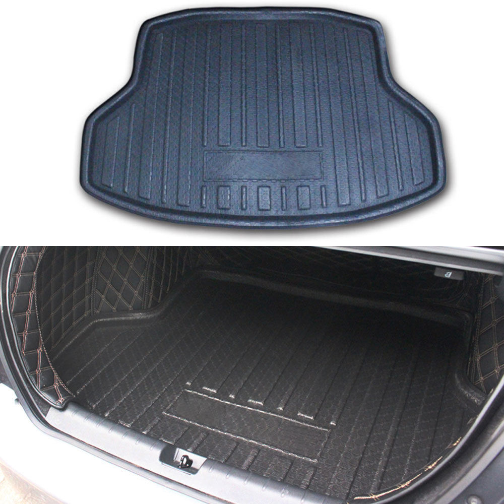 For Honda Civic 10th 4 door Sedan 2016 2017 2018 Rear Trunk Boot Liner Cargo Mat Tail Floor Pad Black Car styling Accessories