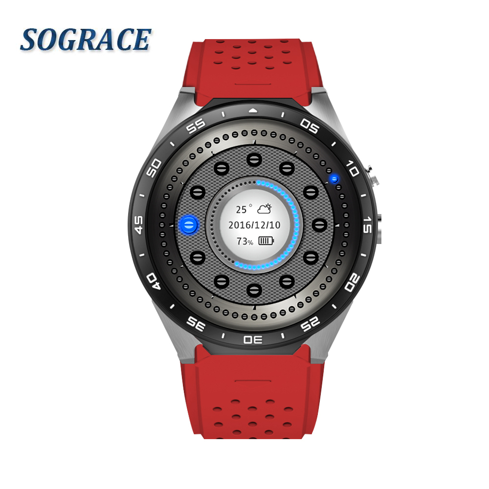 SOGRACE Smart Watches Bluetooth 3G KW88 Smartwatch 2018 Heart Rate Monitor Smart-Watch Connect Android 5.1 Watch Y113 no 1 d5 bluetooth smart watch phone android 4 4 smartwatch waterproof heart rate mtk6572 1 3 inch gps 4g 512m wristwatch for ios