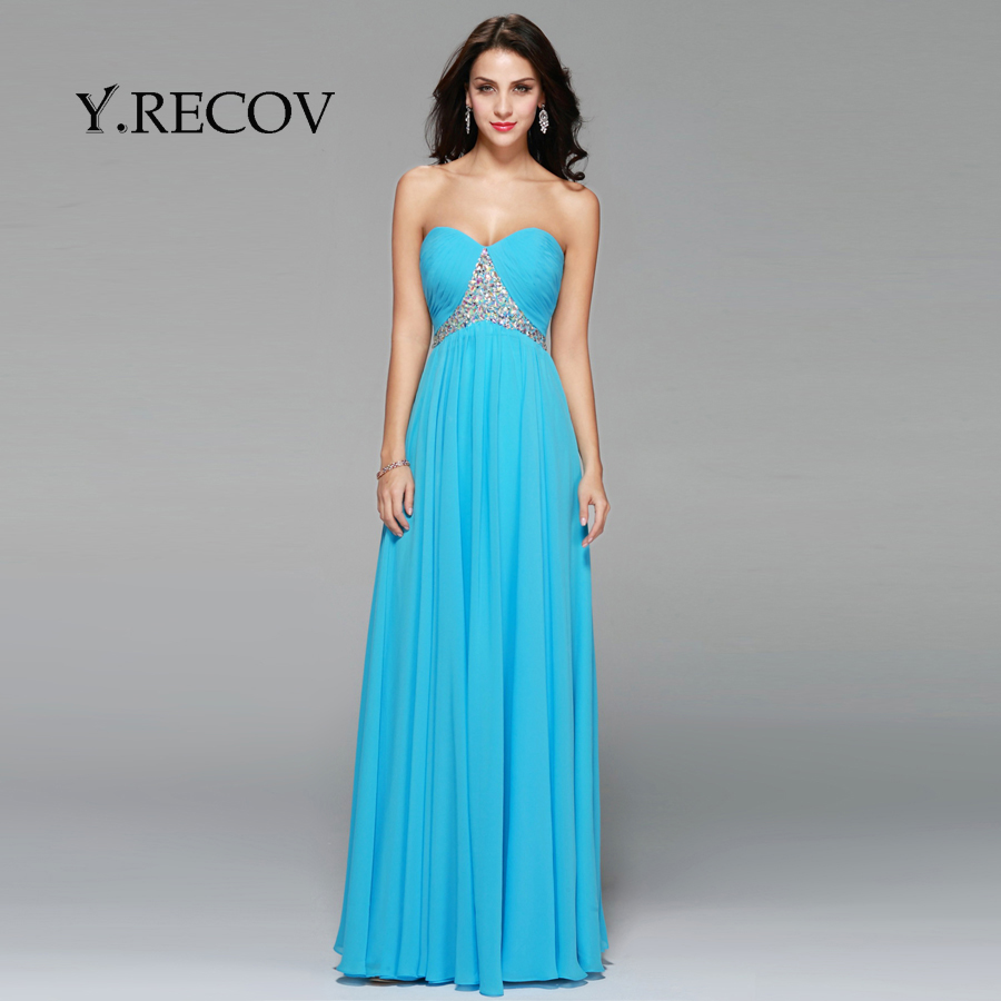 Adult Party Dresses YD2377 A line Sweetheart Chiffon Turquoise Dress ...