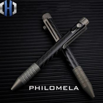 Carbon Fiber Titanium Alloy Bolt Pen Light Portable EDC Tool Tactical Pen Signature Pen Gel Pen