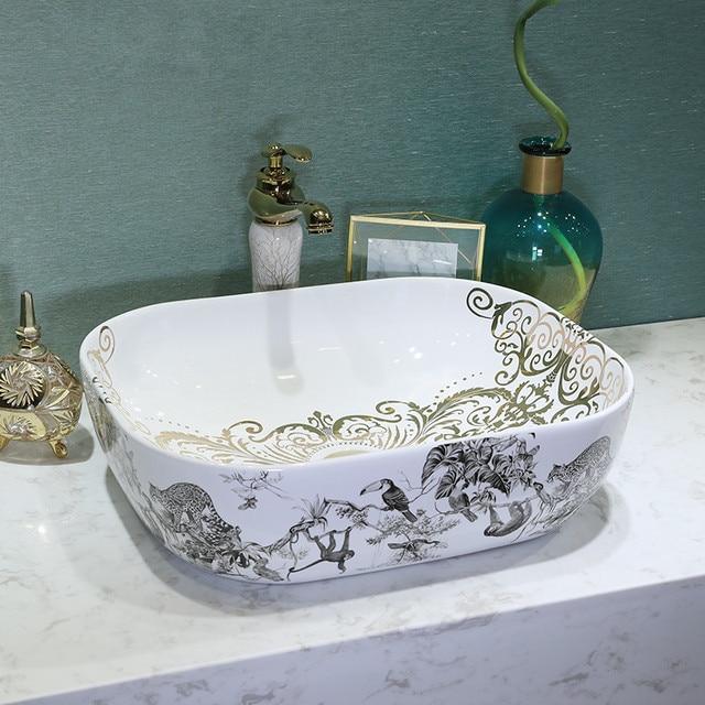 Vogel Malerei China Kunstlerische Handarbeit Keramik Bad Sinkt