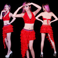 Jerry Ds lead dancer clothing steel pipe costumes stage clothes modern female singer costume club sexy two piece suit
