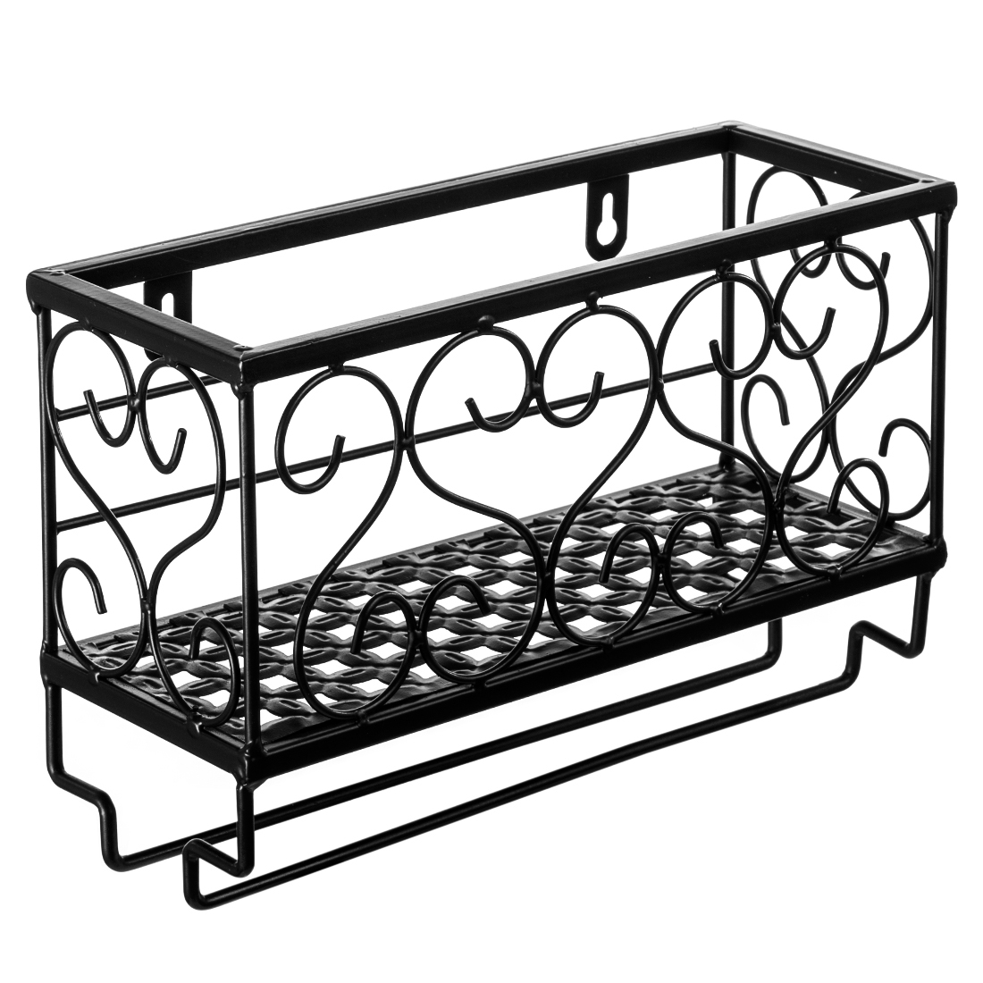 Small Storage Wine Rack Shelf Wrought Iron Wall Hanging Wine Rack Mounted Frame for Goblet kitchen Storage Holder Racks Shelfs