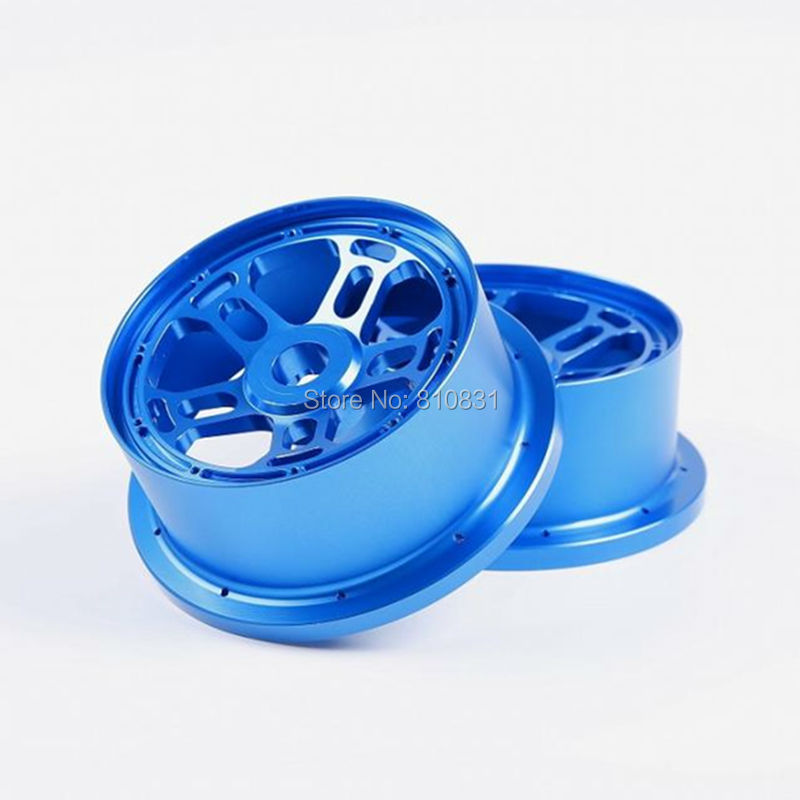 2 Front And 2 Rear Wheel Hub Rim With Beadlock Ring For 1/5 lLOSI 5ive-T Rovan KM gtbracing 2 front and 2 rear wheel hub rim with beadlock ring for 1 5 losi 5ive t rovan lt km x2