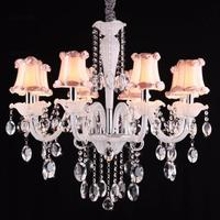 white glass chandelier led Kitchen Fixture children room 6 arm modern mini chandeliers for dining room bedroom Cafe light